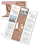 Tanned Face Newsletter Template