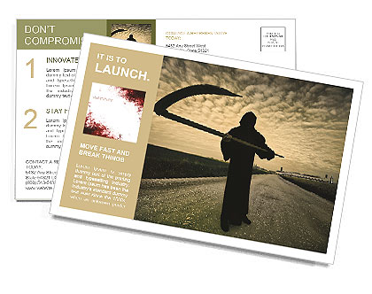 Death Image Postcard Template