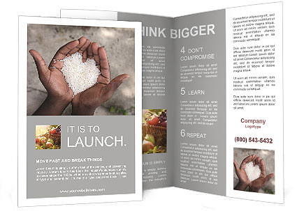 Rice Brochure Template