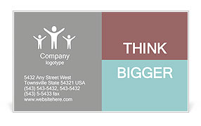 Financial Discussion Business Card Template