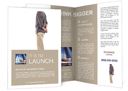 Man In Thoughts Brochure Template