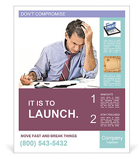 Busy Businessman Poster Template