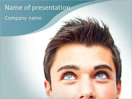 Dreaming Man PowerPoint Template