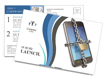 Mobiele Telefoon In Chain Postkaarten
