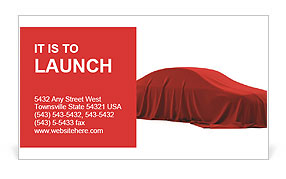 Car As Gift Business Card Template