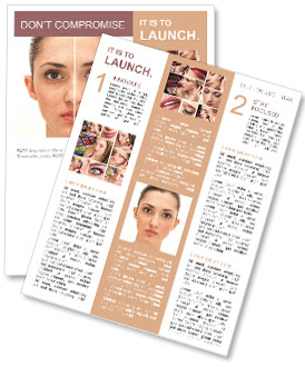 Woman's Face Newsletter Template