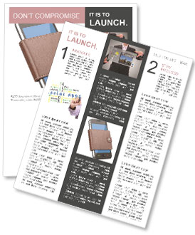 Mobile Phone In Purse Newsletter Template