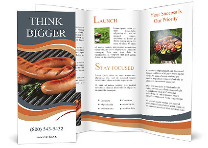 Fried Sausage Brochure Template