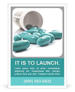 Blue Pills Ad Template
