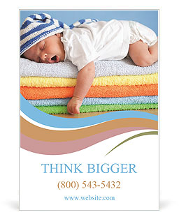 Sweet Sleeping Baby Ad Template
