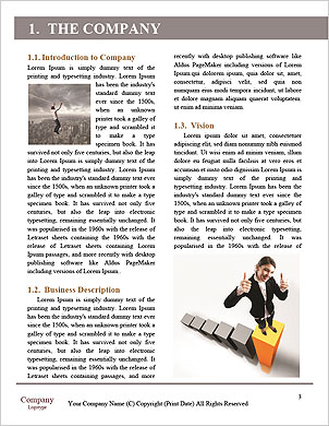 Elegant Businesswoman Word Template - Page 3
