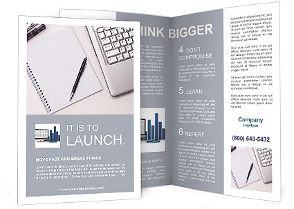 Write Notes Brochure Template