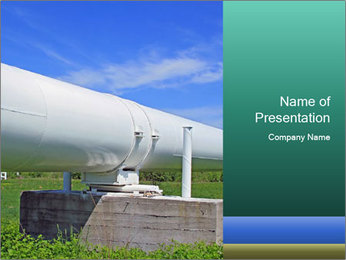 Oil pipeline - PowerPoint Template - SmileTemplates com