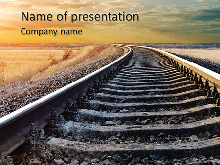 Railway to horizon PowerPoint Template