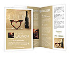 Two Glasses of Red Wine Brochure Template