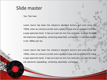 Abstract music background. Vinyl disk PowerPoint Template