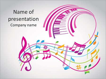 Colorful music background PowerPoint Template