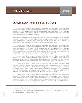 Empty tablet and a cup of coffee on the desk Letterhead Template