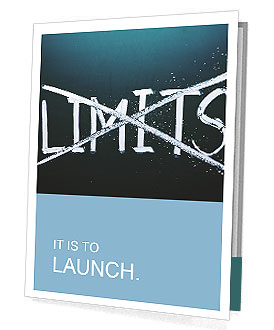 Break the limits concept Presentation Folder