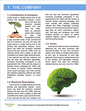 Healthy heart and mind with a tree in the shape of a human head Word Template - Page 3