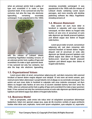 Healthy heart and mind with a tree in the shape of a human head Word Template - Page 4