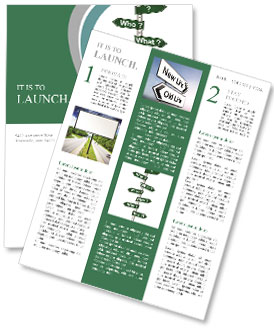 Plate with questions Newsletter Template