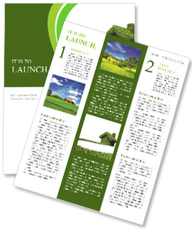 Green house Newsletter Template