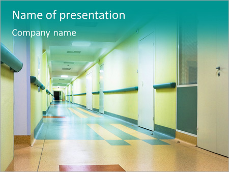 Corridor In Hospital Powerpoint Template Infographics Slides