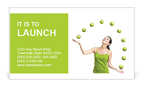 Juggling apples Business Card Template