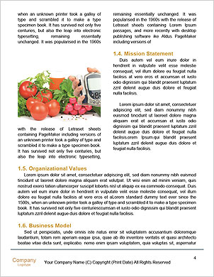 Quality control of vegetables Word Template - Page 4