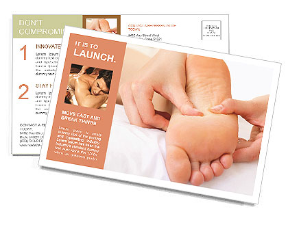 Foot Massage Postcard Template