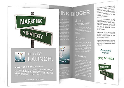 Marketing and strategy Brochure Template