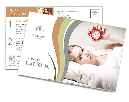 Wake up Postcard Template