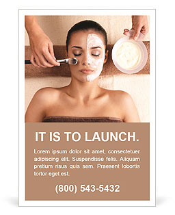 Spa treatments at the salon Ad Template