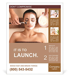 Spa treatments at the salon Poster Template