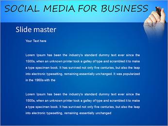 社会化媒体 PowerPoint演示模板