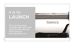 The old school typewriter Business Card Template