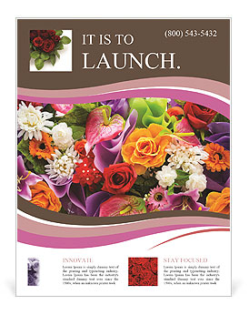 Lots of flowers Flyer Template