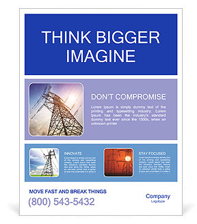 Very high high-voltage tower Poster Template