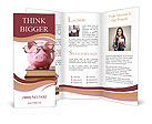 Toy pig with glasses Brochure Template