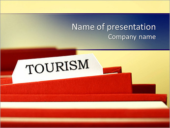 Tourism word PowerPoint Template