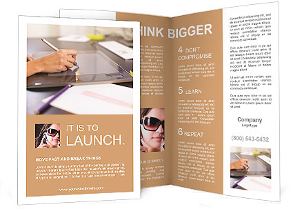 Drawing on a tablet Brochure Template