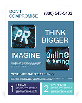 Public relations and abbreviations Flyer Template