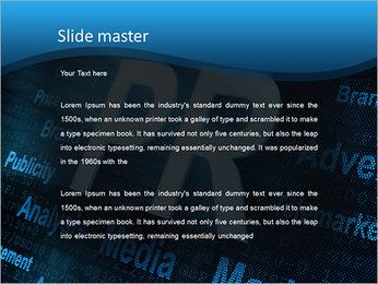 PR och förkortningar PowerPoint presentationsmallar