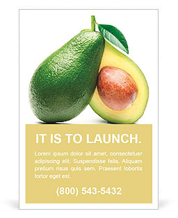 Yellow fruit Ad Template
