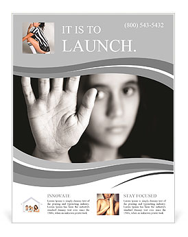 A young girl on a black white picture Flyer Template