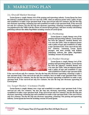 Krásný růžový květ Word šablony - Stránky 8