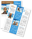 Couple on a tropical beach at Maldives beautiful view Newsletter Template