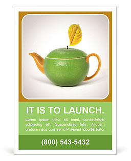 Green tea as a way to health Ad Template