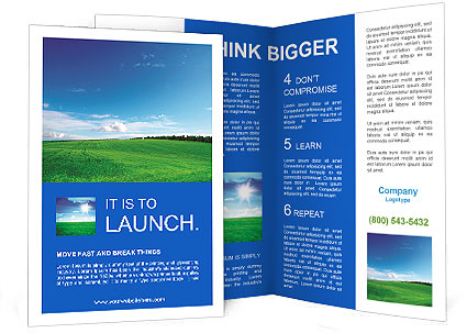 Green field and blue sky Brochure Template